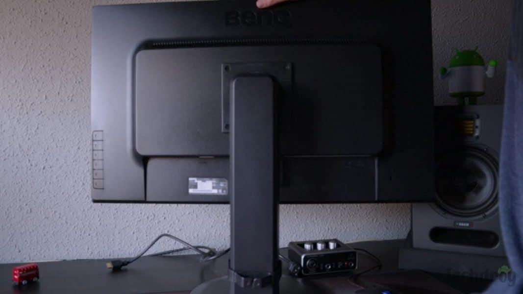 Altura del monitor 2K económico de BenQ