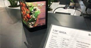 BOE pantalla flexible