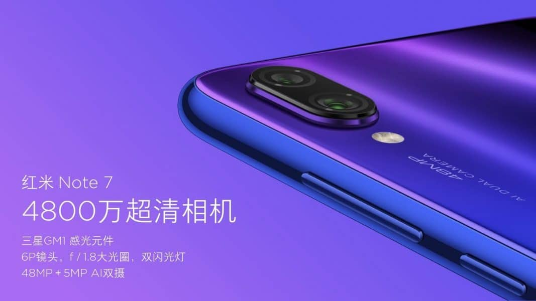 Cámara Redmi Note 7 by Xiaomi