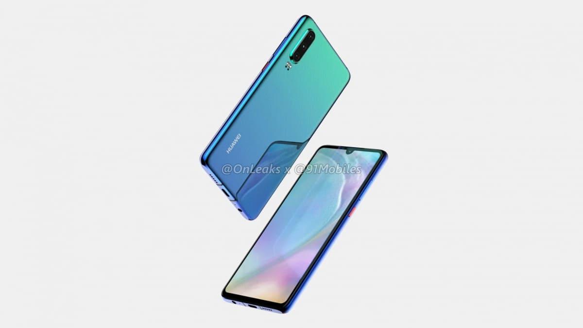 Huawei P30 render 2