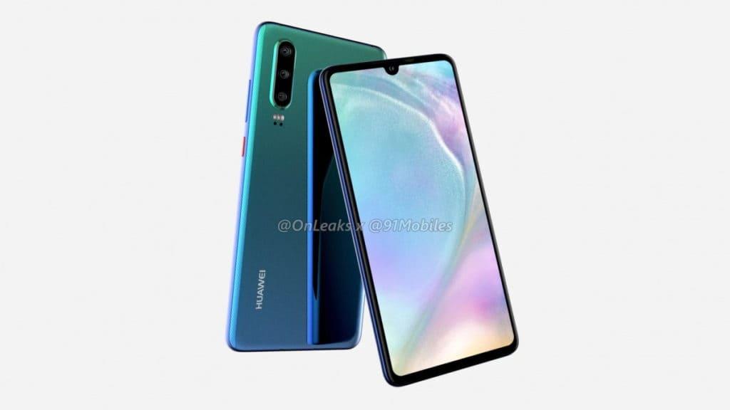 Huawei P30 render 3