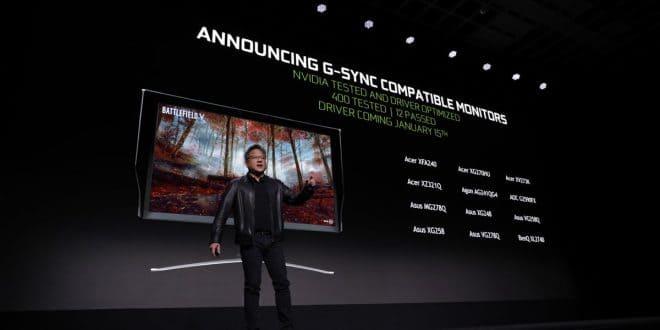 Nvidia G-Sync compatible con monitores FreeSync CES 2019
