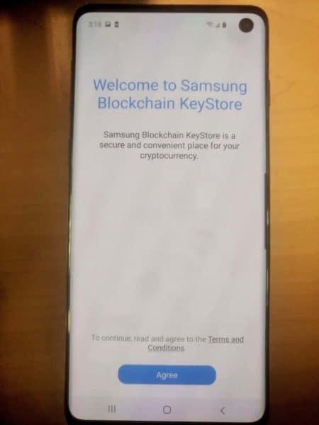 Samsung Keychain KeyStore Galaxy S10