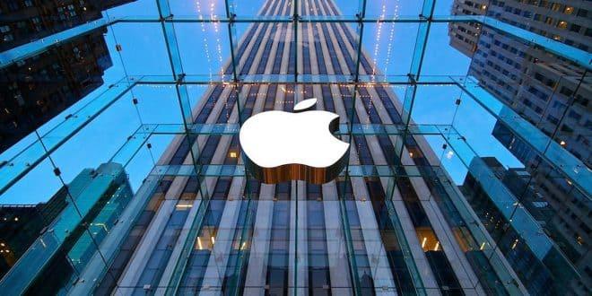 apple logo en cristal