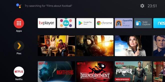 Android TV actualización interface