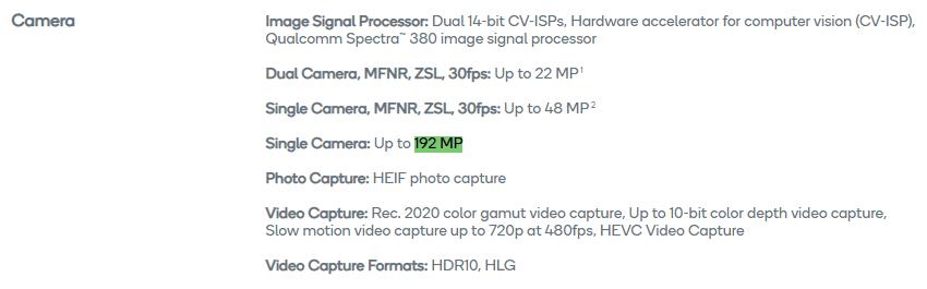 192 MP camaras chips Qualcomm