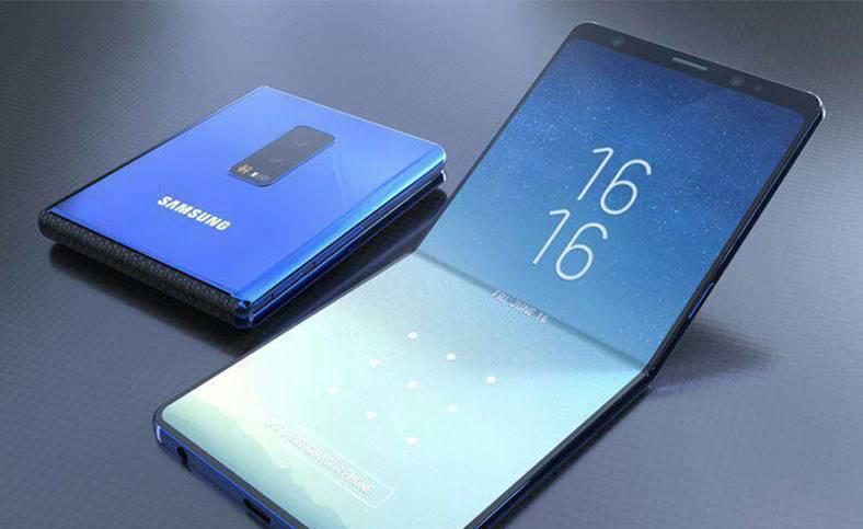 Concepto Samsung smartphone plegable tipo concha