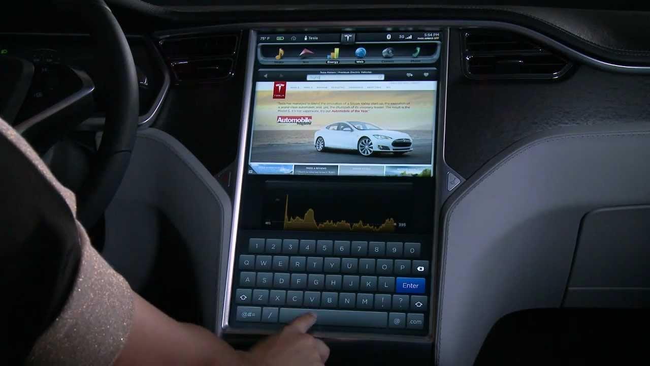 Tesla pantalla nuevo navegador de Internet
