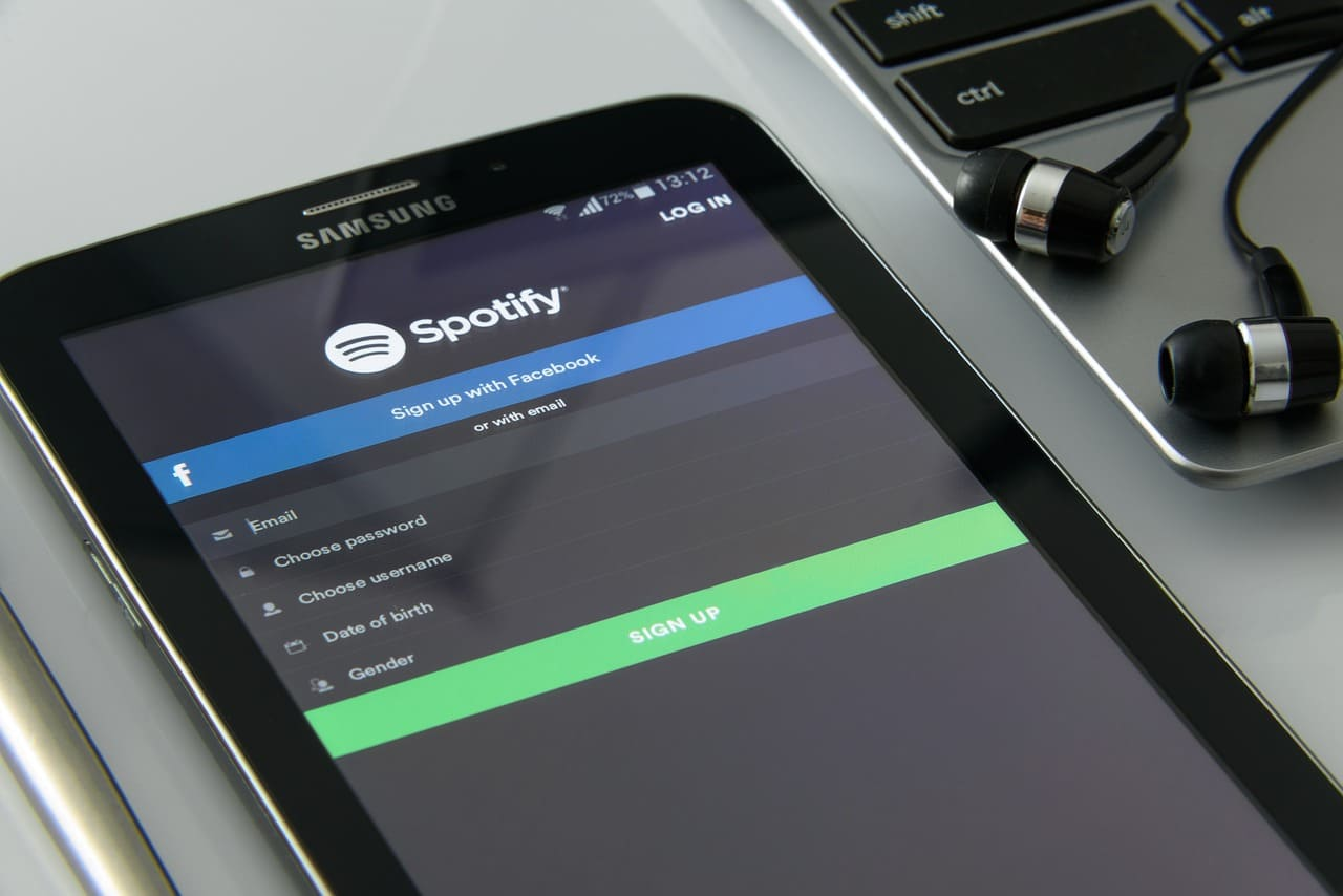 Spotify en una tablet