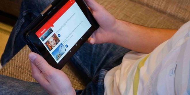 YouTube en una tablet