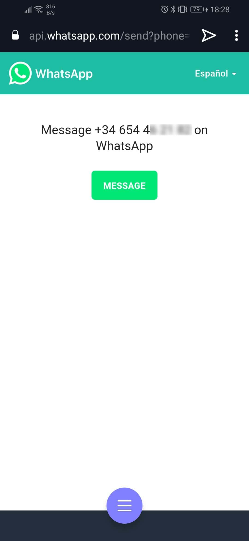 Enlaces de WhastApp numero sin registro