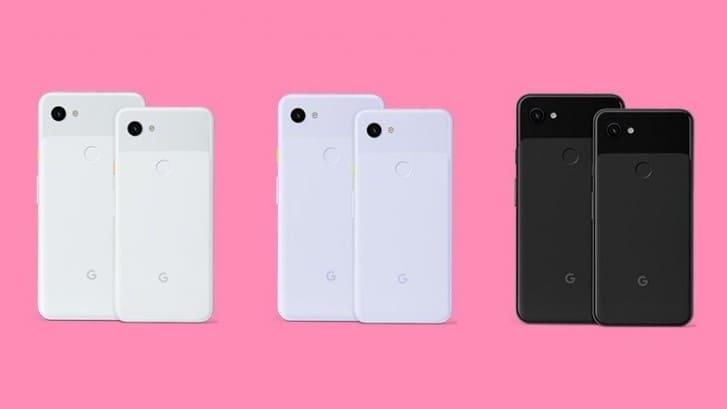 Google Pixel 3a y Pixel 3a XL colores