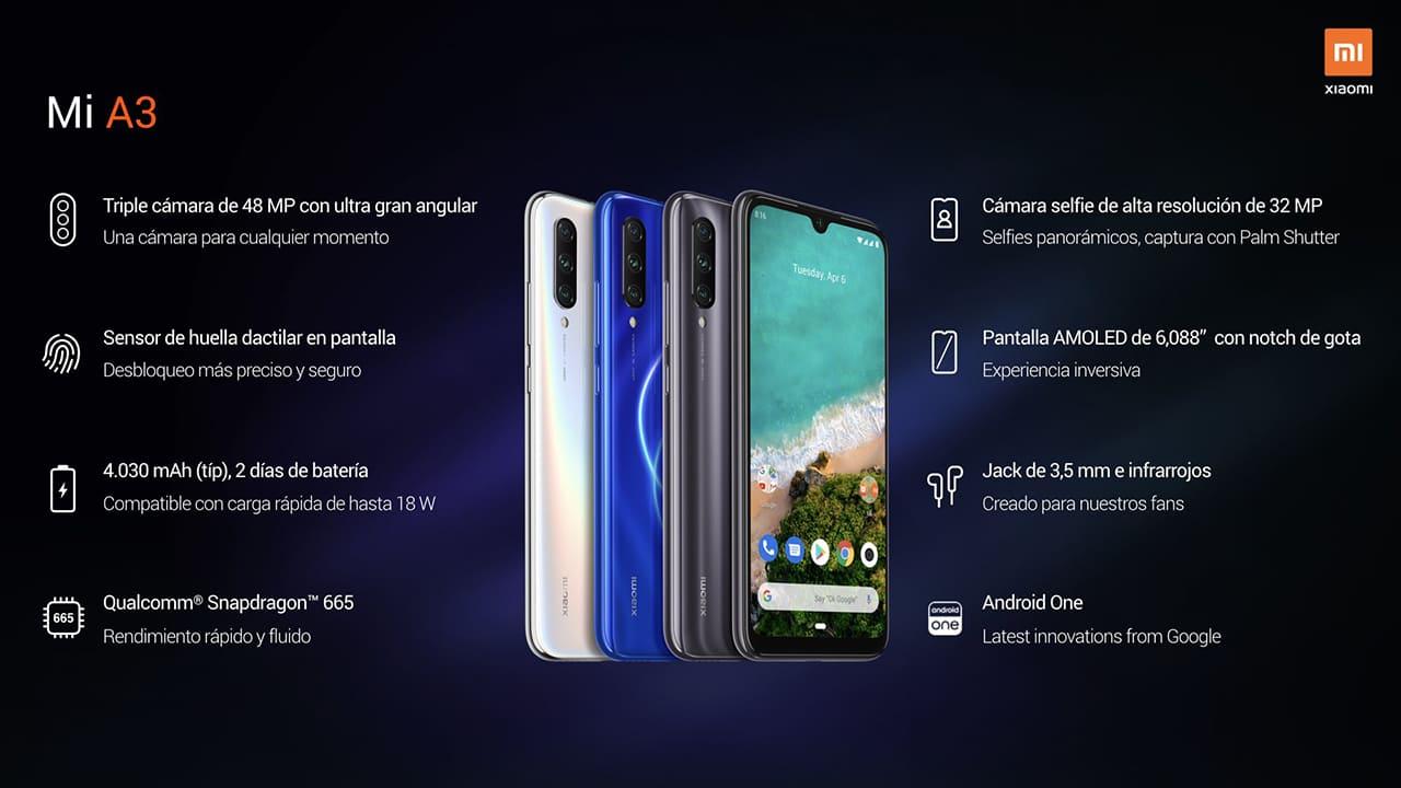 características-Xiaomi-Mi-A3