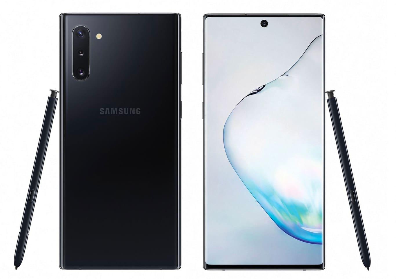 Samsung Galaxy Note 10 modelo Aura Black