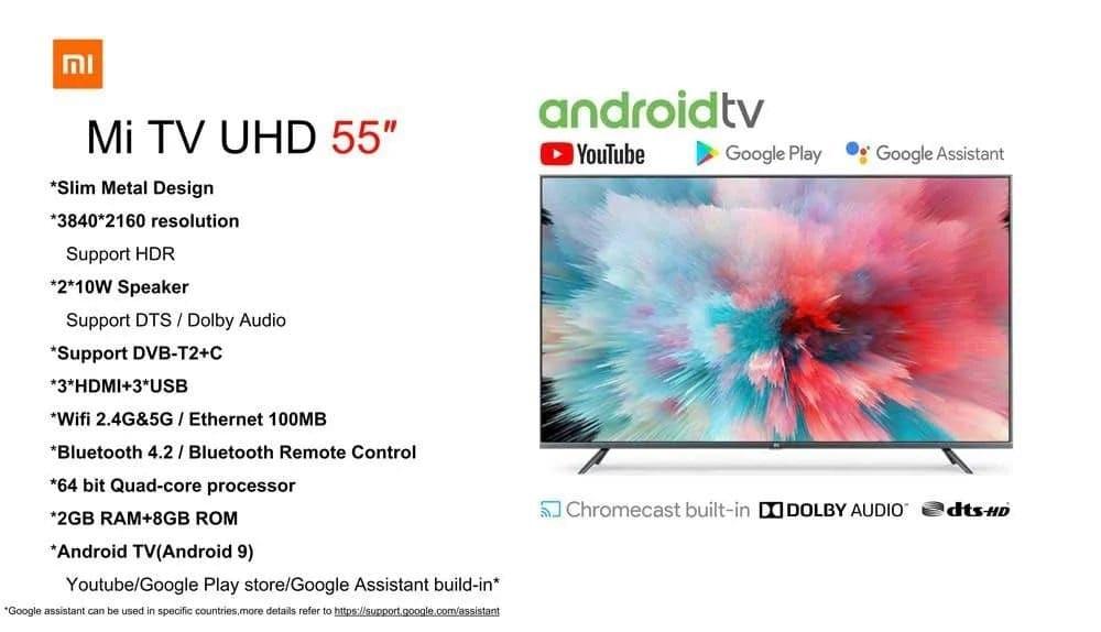 televisiones Xiaomi Mi TV 55 pulgadas