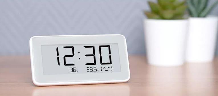 Xiaomi-Mijia-Digital-Hygrometer-Clock-reloj-despertador-temperatura-tiempo-meteorologia-higrometro