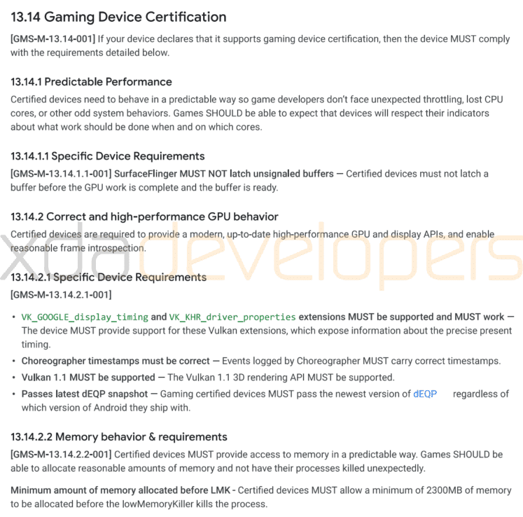 Google-Gaming-Device-Certification