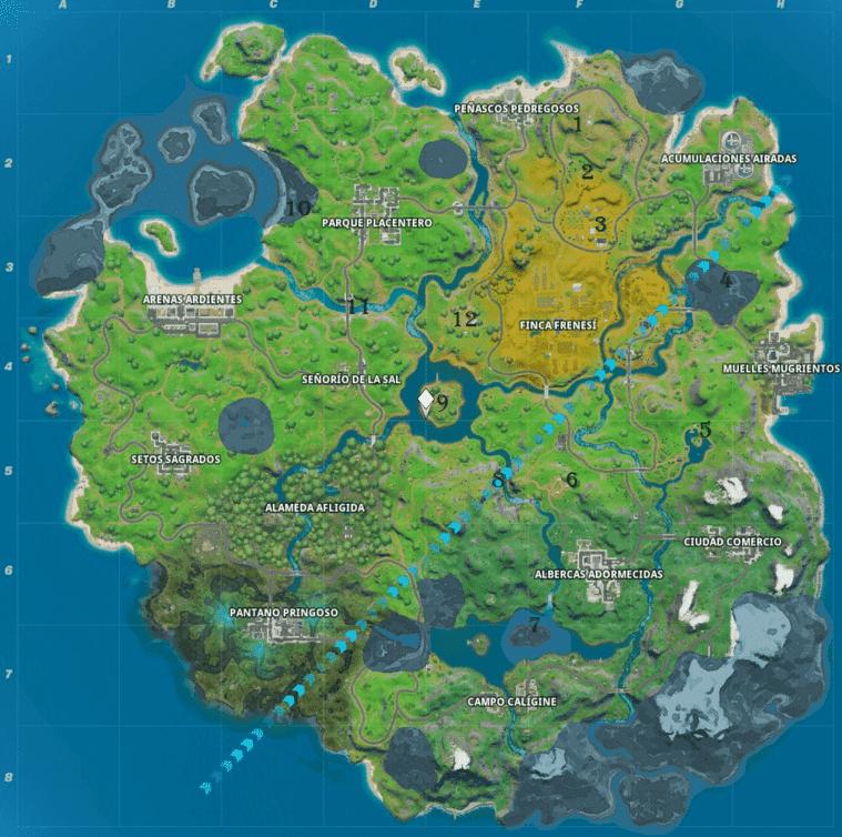 Mapa lugares emblemáticos