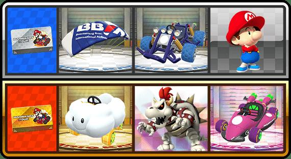 Algunos premios Mario Kart Tour