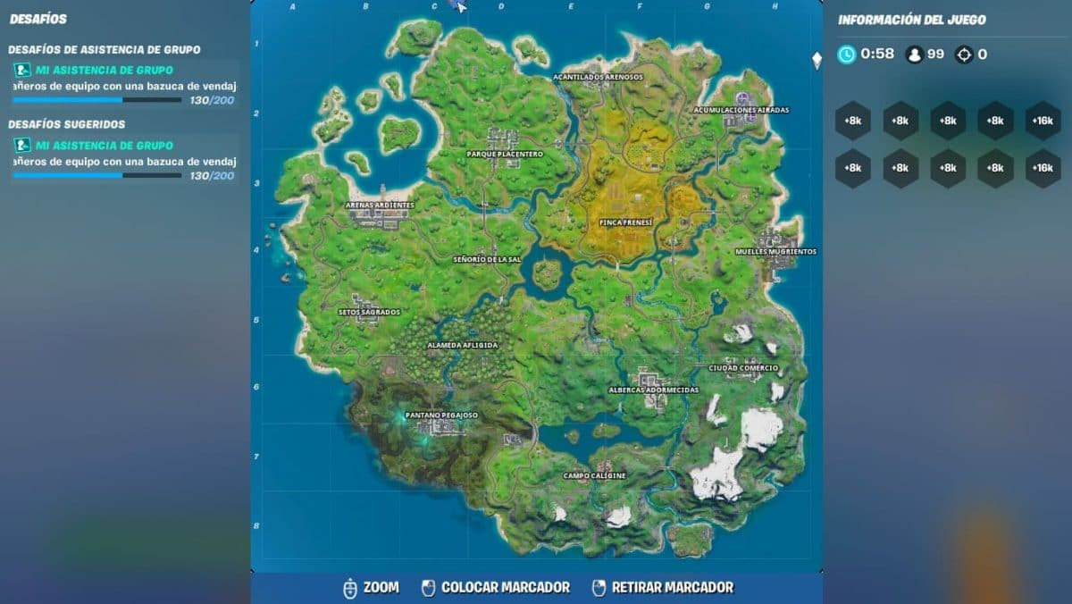 mapa temporada 7 Fortnite