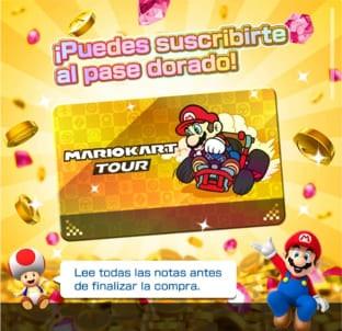 Pase dorado Mario Kart Tour