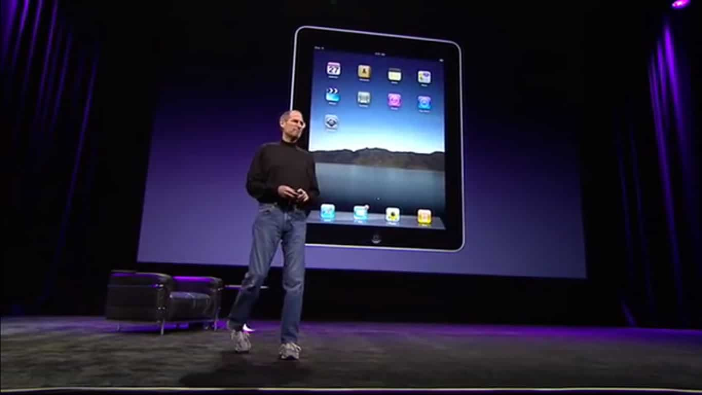 Jobs presenta el iPad 2010