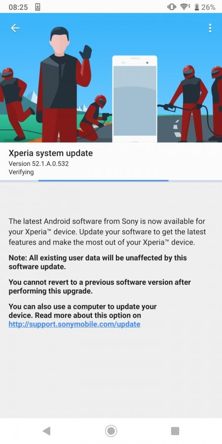 XZ-Android-10-actualizacion