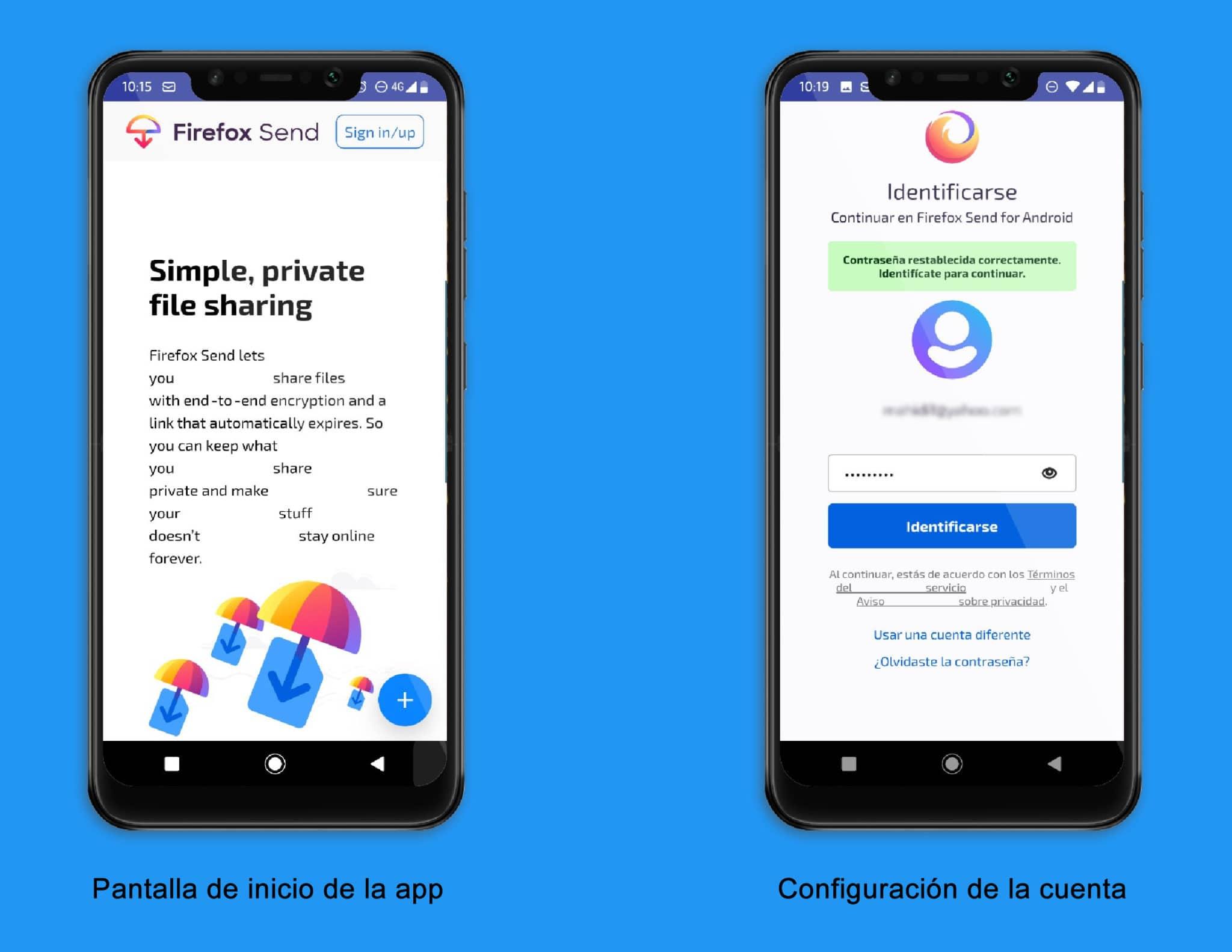 Firefox send app primeros pasos