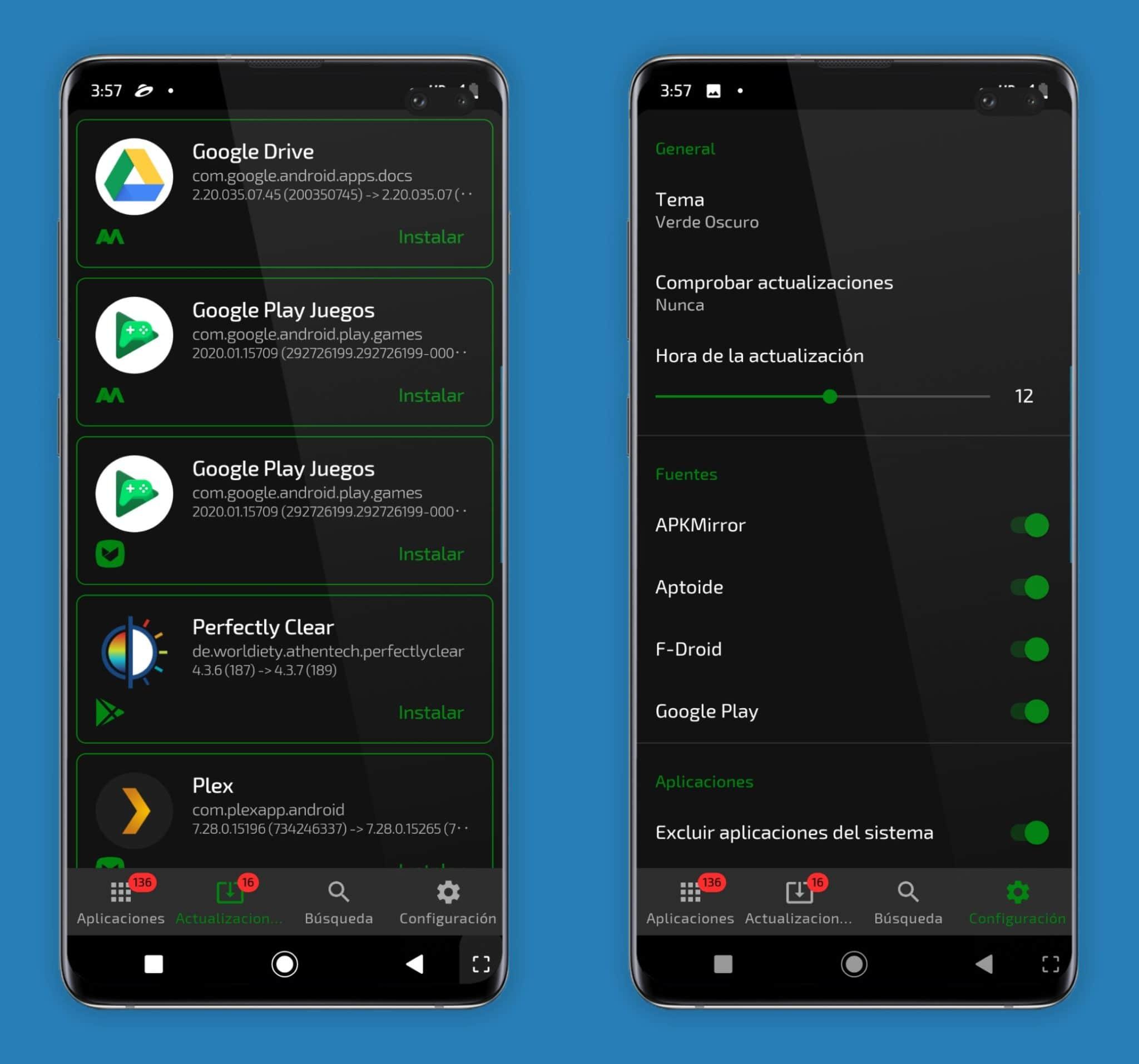 Funciones Apkupdater app android