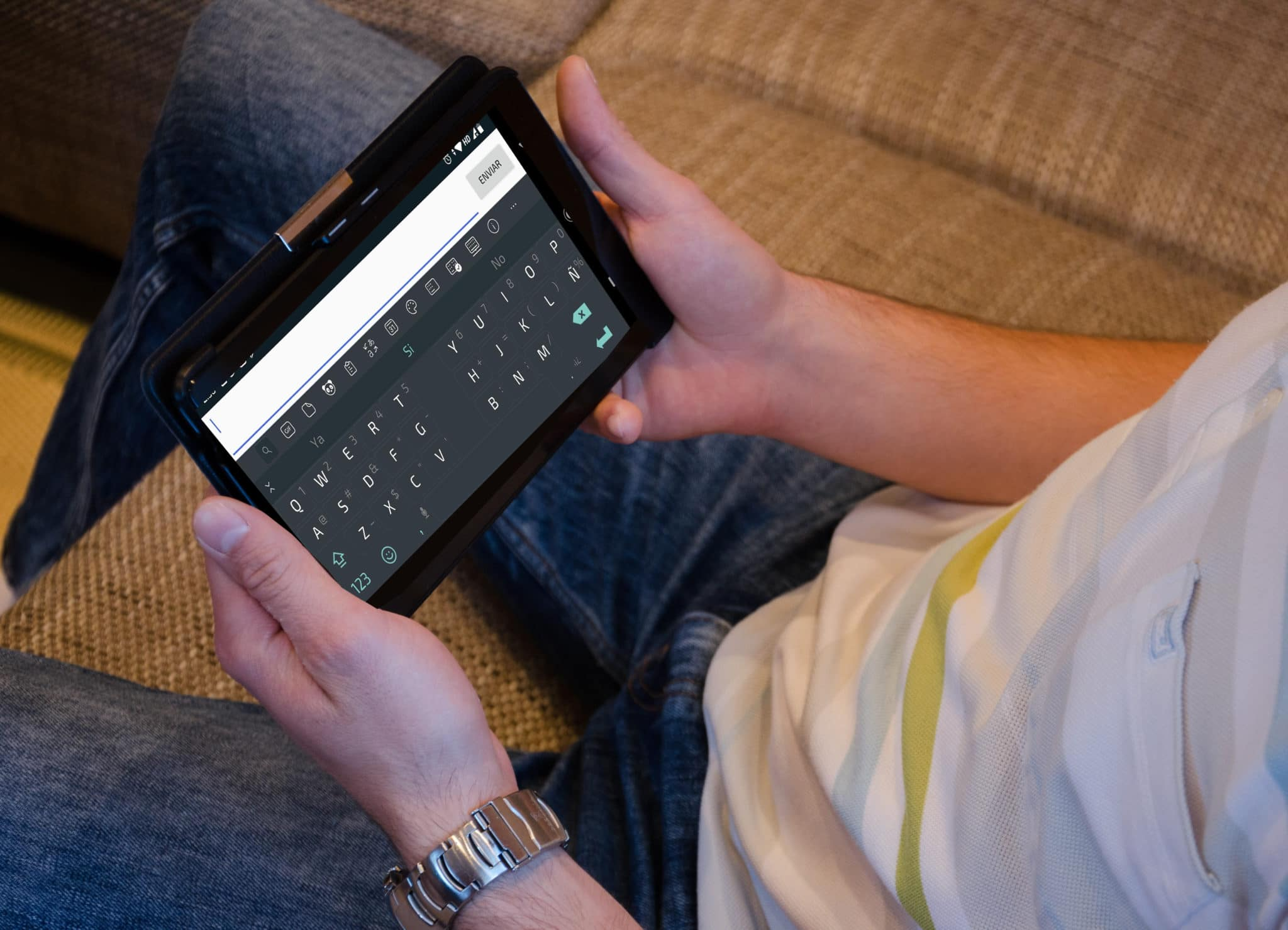 Teclado dividido en tablet