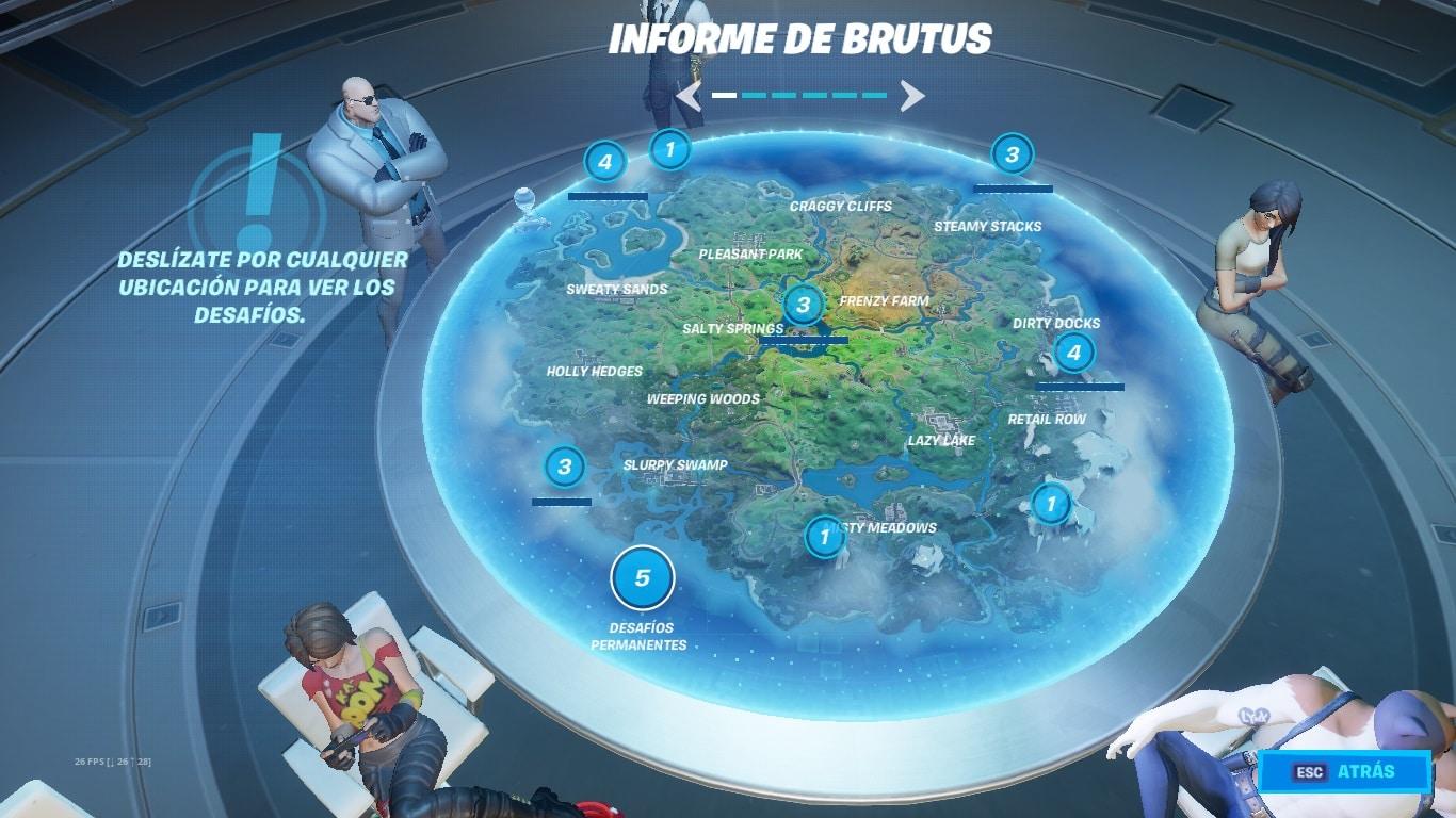 Desafíos Fortnite Primera semana