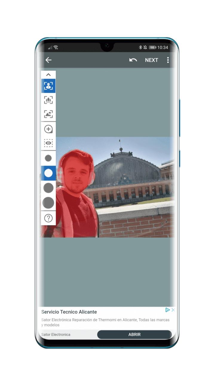 modo-retrato-apps-sujeto-seleccionado