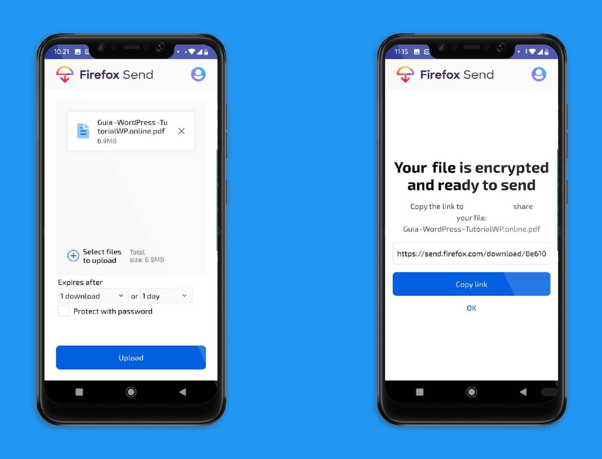 uso app Firefox Send