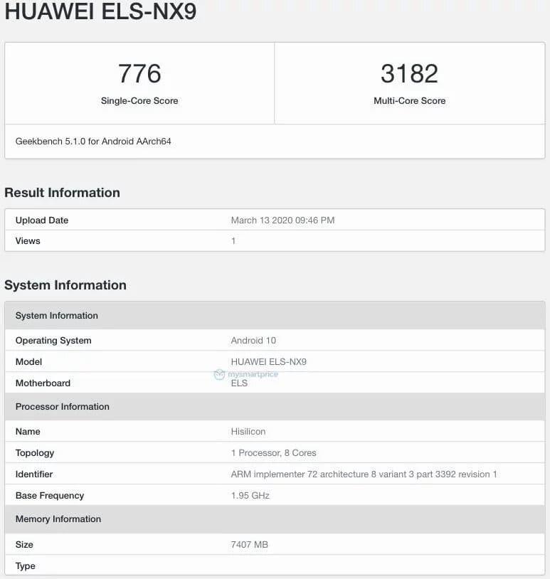 Huawei-P40-Pro-Geekbench