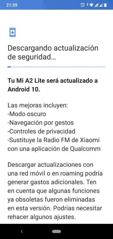 comprobar-actualizacion-android-10-xiaomi-mi-a2-lite-registro-de-cambios