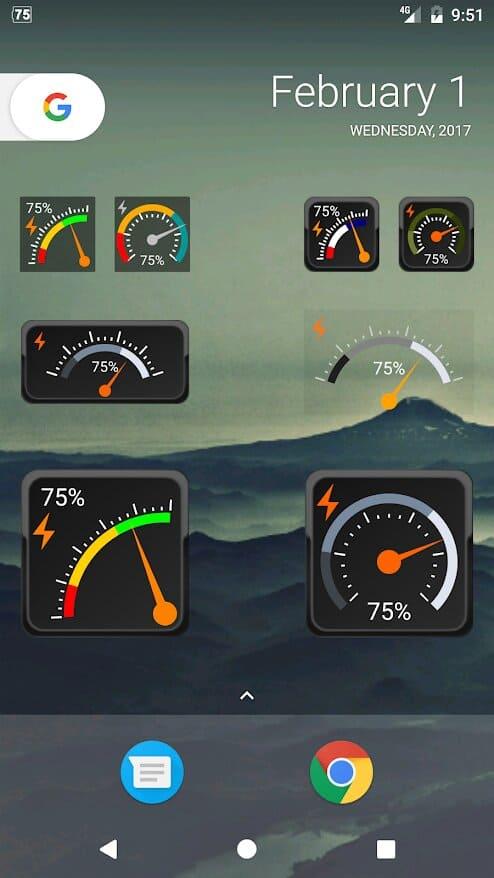 app-Gauge-Battery-Widget