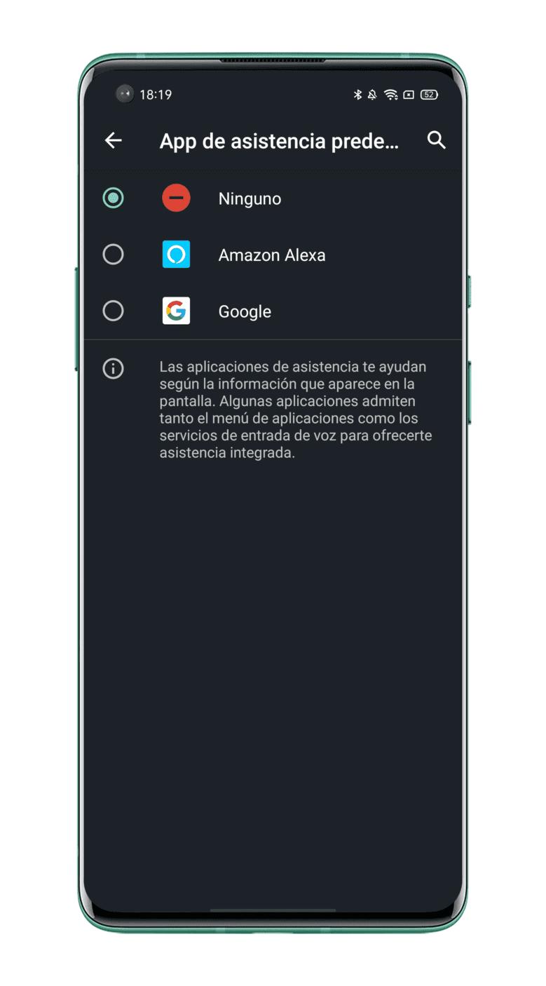 desactivar botón de Asistente Google