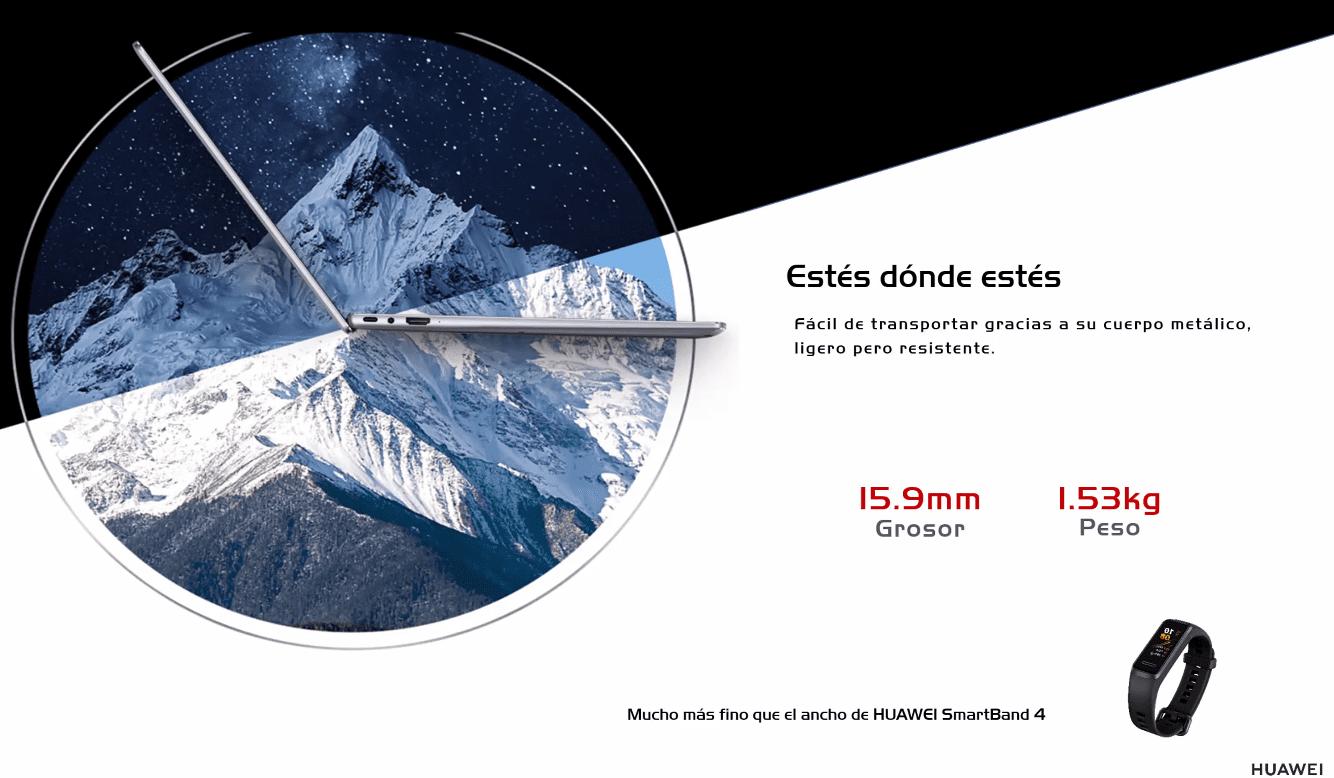 Huawei Matebook 14 grosor peso