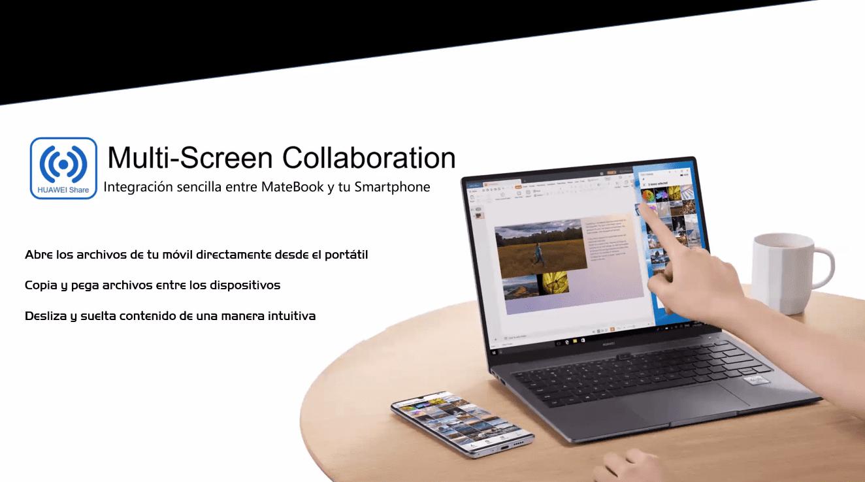 Huawei Matebook 14 multi screen collaboration huawei share
