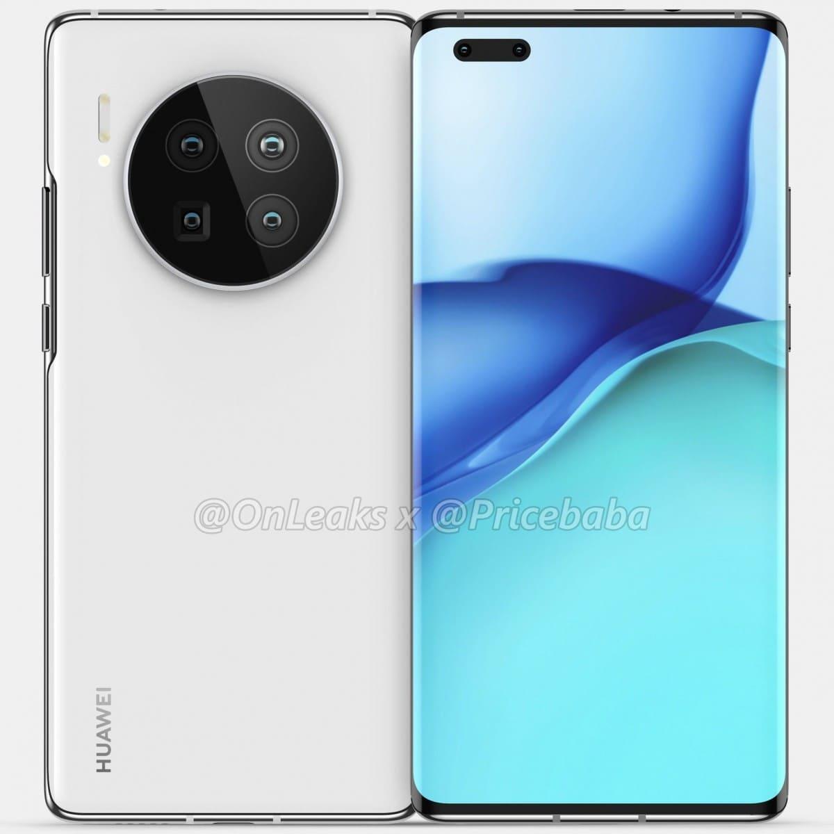 Huawei-Mate-40-Pro-renders-filtrados-blanco