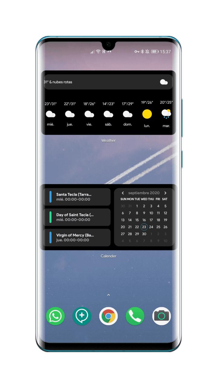 Google-widgets-iOS-14-en-Android