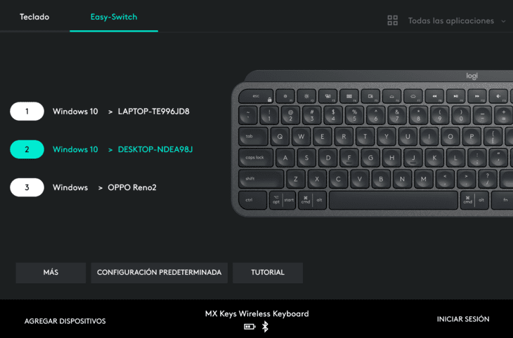 logitech-mx-keys-software-logitech-options-switch-conmutar-entre-dispositivos