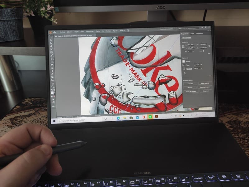 asus-zenbook-duo-diseñando-adobe-illustrator