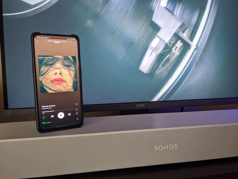 barra-de-sonido-sonos-beam-reproduciendo-spotify-connect-oppo-reno2