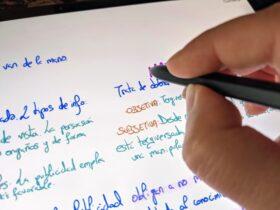 samsung-galaxy-tab-s7+-s-pen-samsung-notes-escribiendo-perspectiva-mano