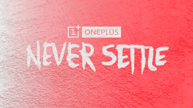 logo OnePlus banner never settle