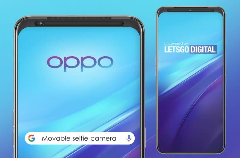 oppo smartphone reno selfie deslizante marco superior