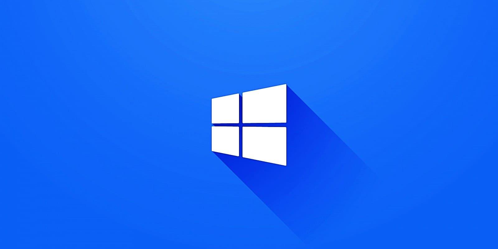 Microsoft banner fondo azul