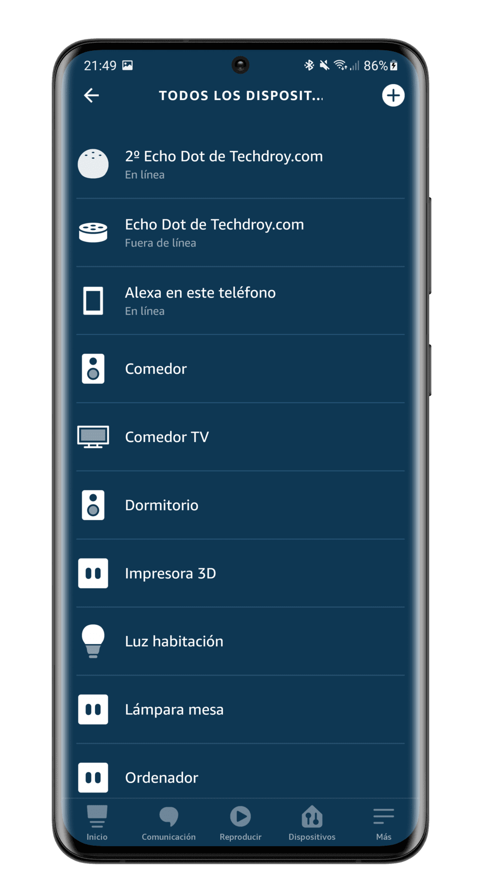 menu-seleccion-dispositivos-app-Alexa