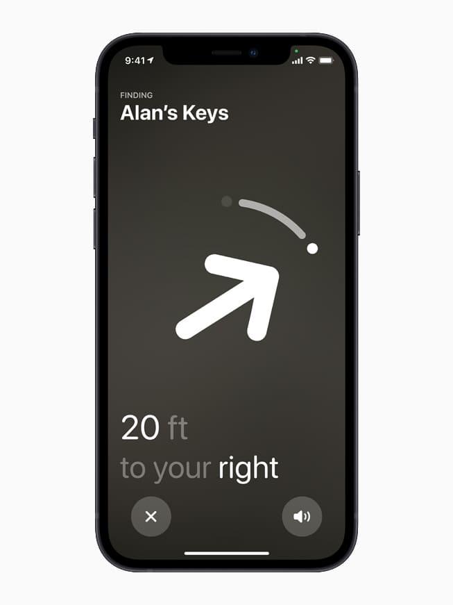 Apple iphone12 precision AirTags